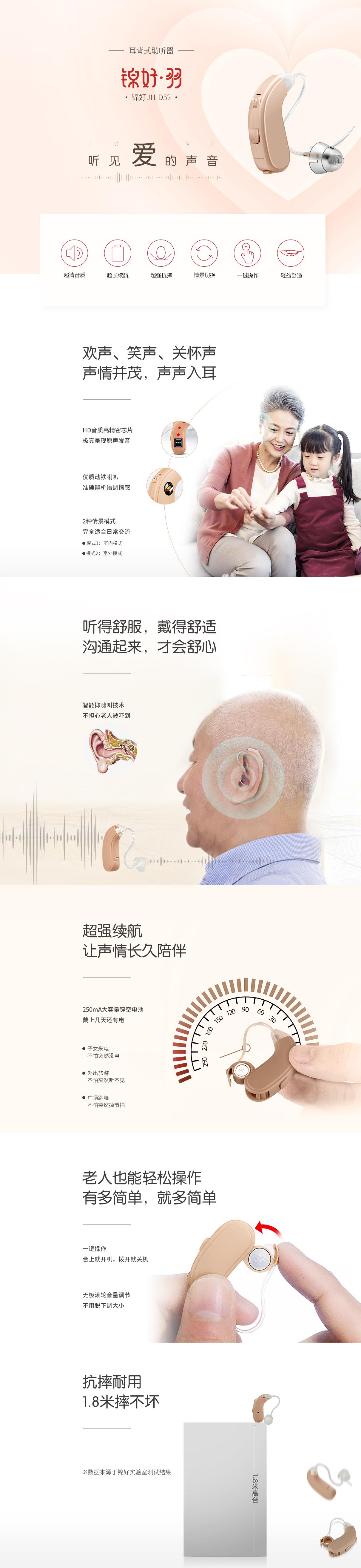 JH-D52 助听器