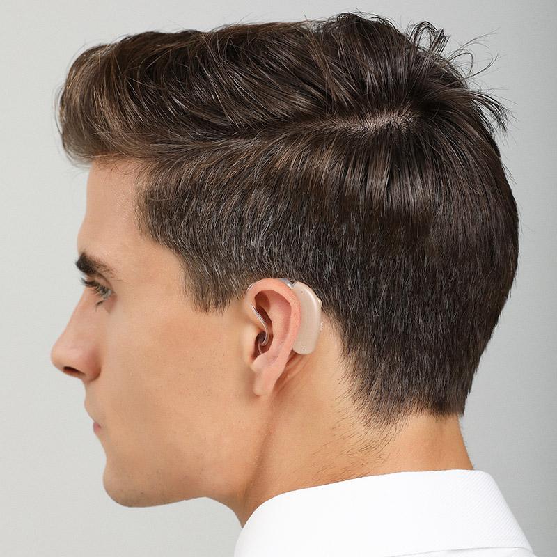 Jh-D58 hearing aids man model wear